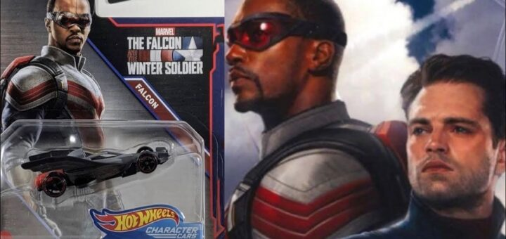 the falcon's new suit on hot wheels merchandise