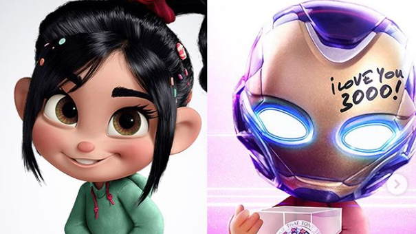 vanellope from wreck-it-ralph as morgan from tony stark's daughter avengers