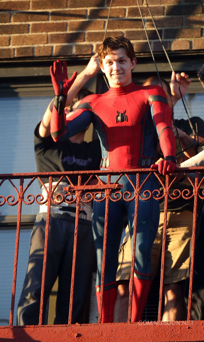 Tom Holland Filming Spider-Man