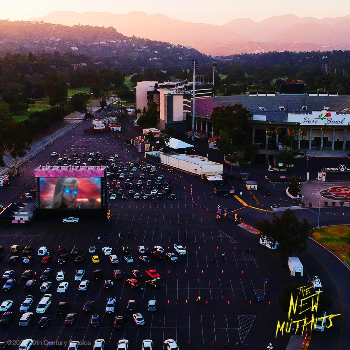The new mutants preview weekend drive in theater