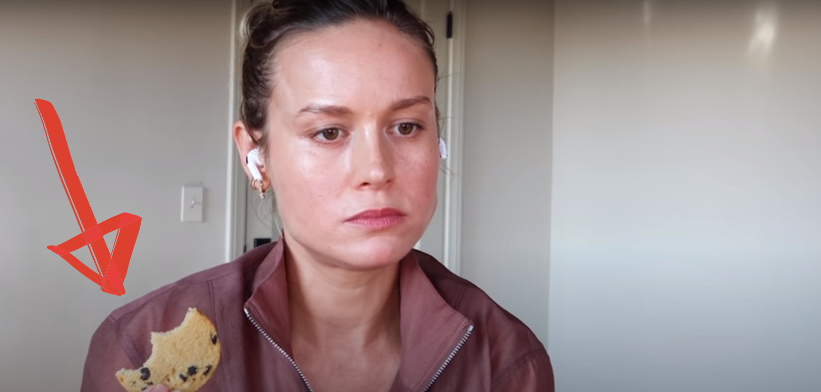 brie larson YouTube workout