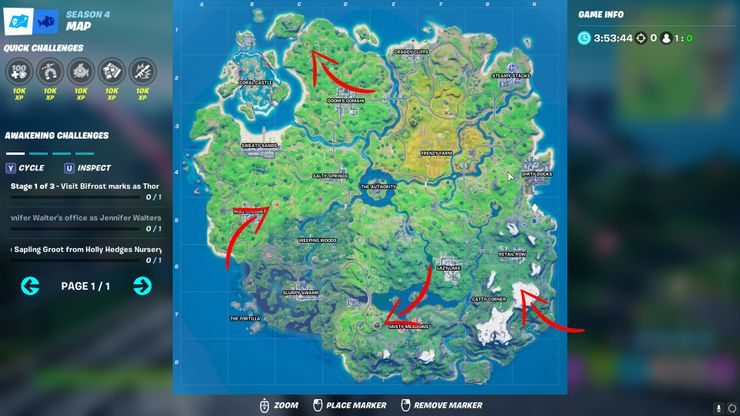 Fortnite's Updated Map