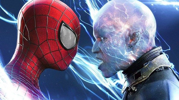 jamie foxx as electro and spider man