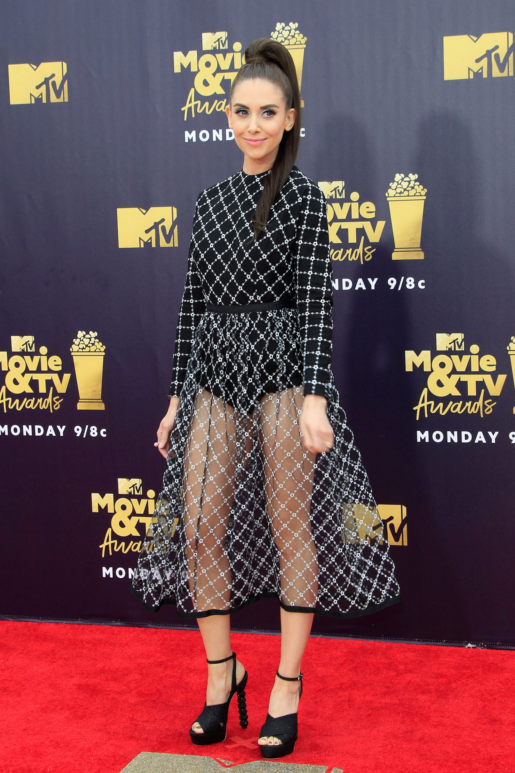 Alison Brie at the 27th MTV Movie Awards in California