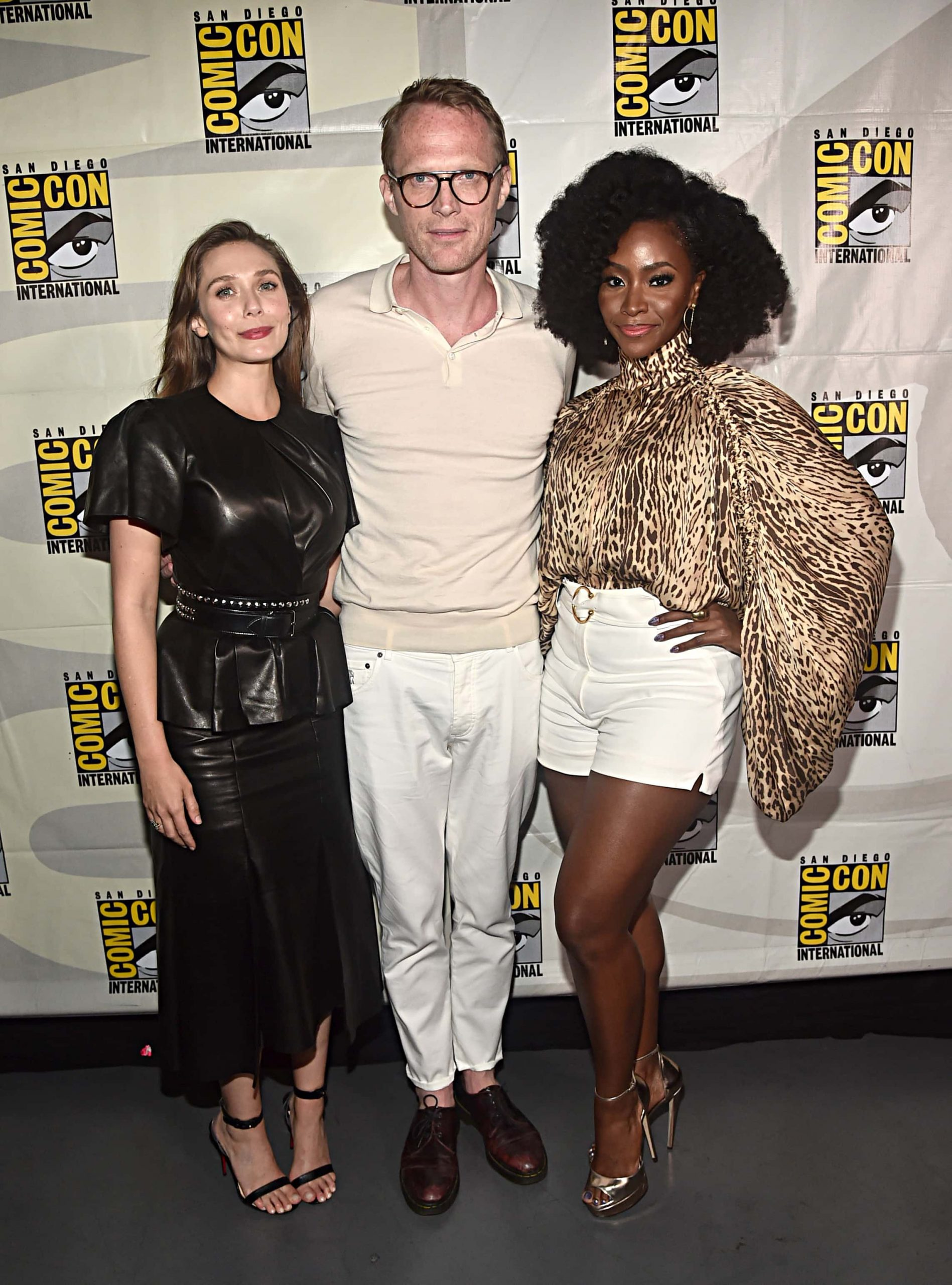 Elizabeth Olsen, Paul Bettany and Teyonah Parris at SDCC