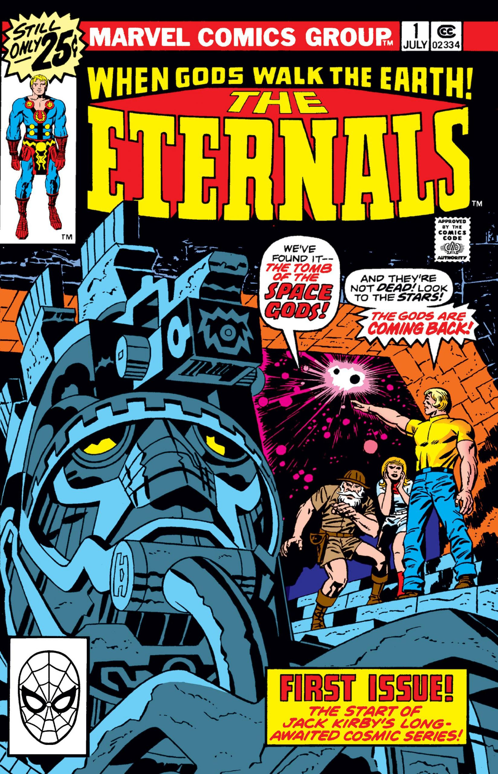 Eternals (1976) #1 by Jack Kirby on Marvel Unlimited