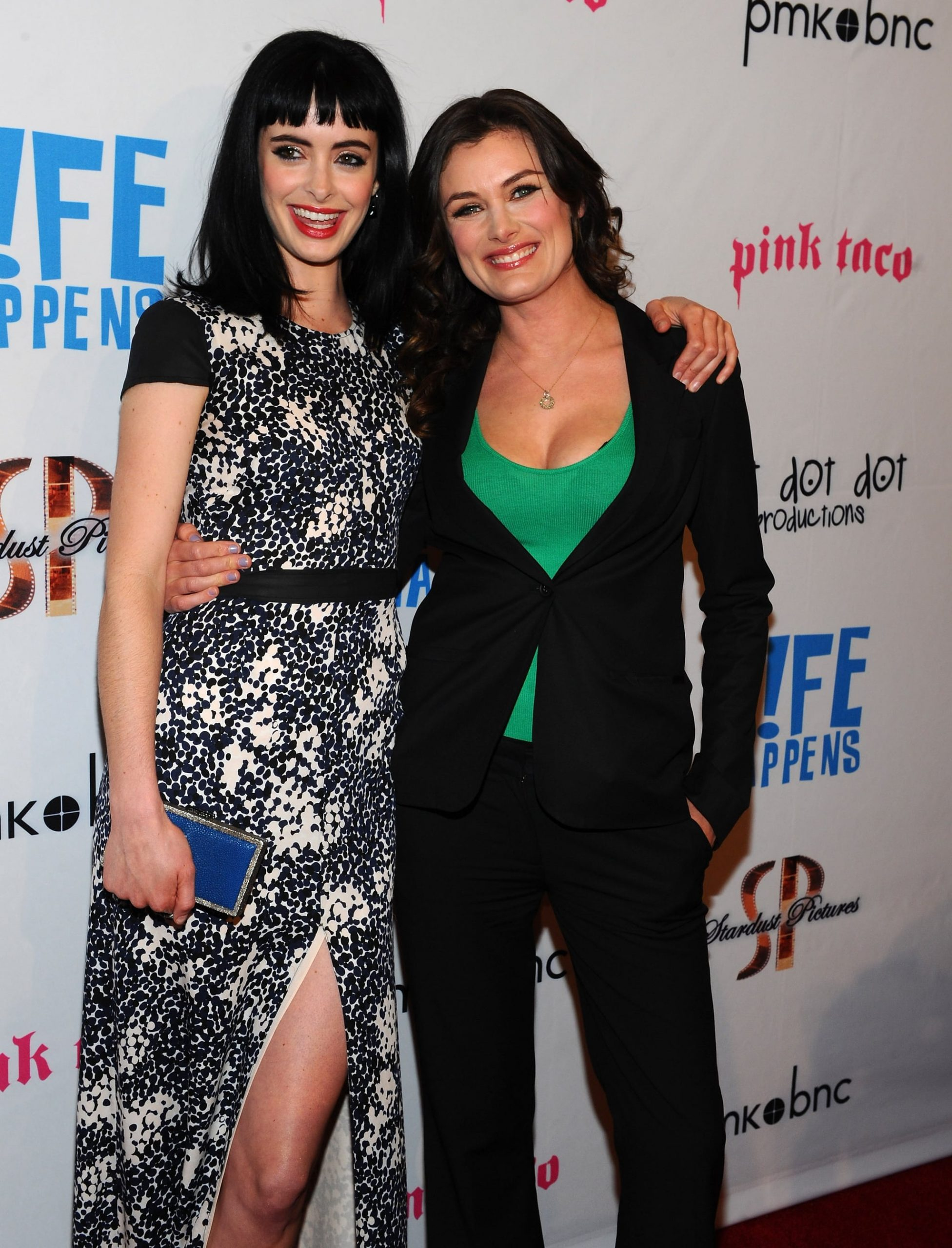 Kat Coiro and Krsyten Ritter at the Life Happens premiere in Century City