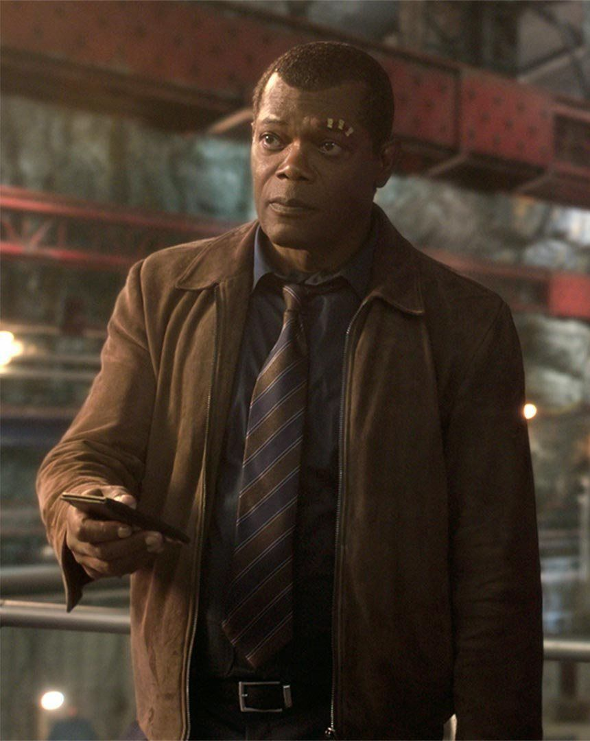 Samuel L Jackson as Nick Fury in Captain Marvel