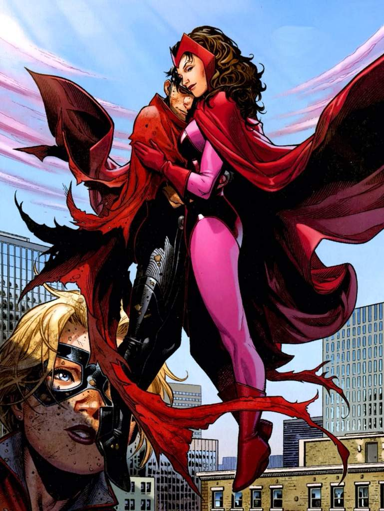 Scarlet Witch and Wiccan in Childrens Crusade