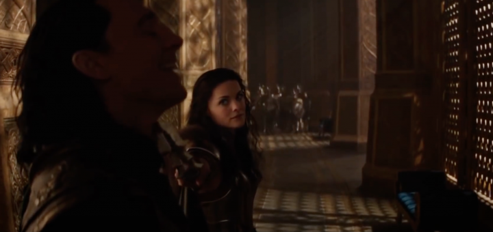 Lady Sif and Loki in Thor (2011)