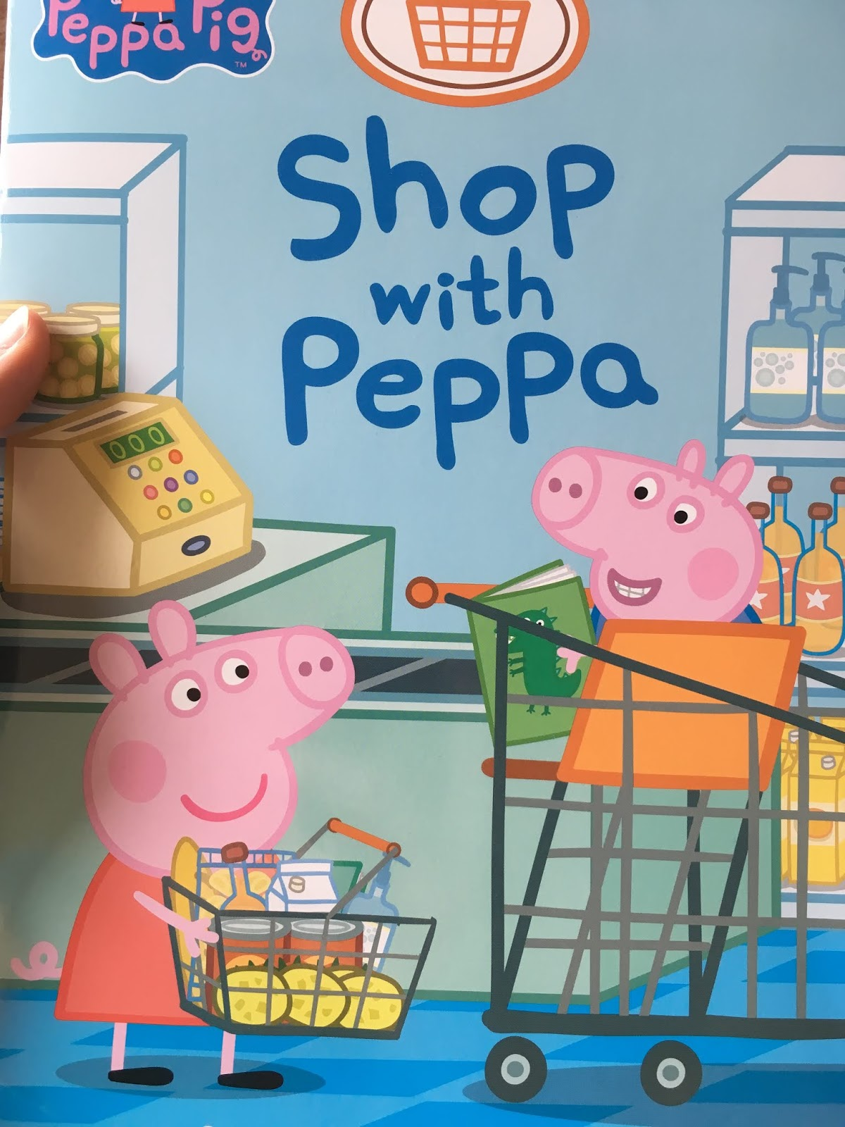 Shop with Peppa book cover