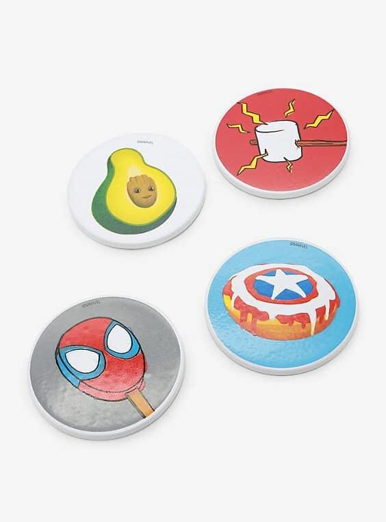marvel eat the universe coasters