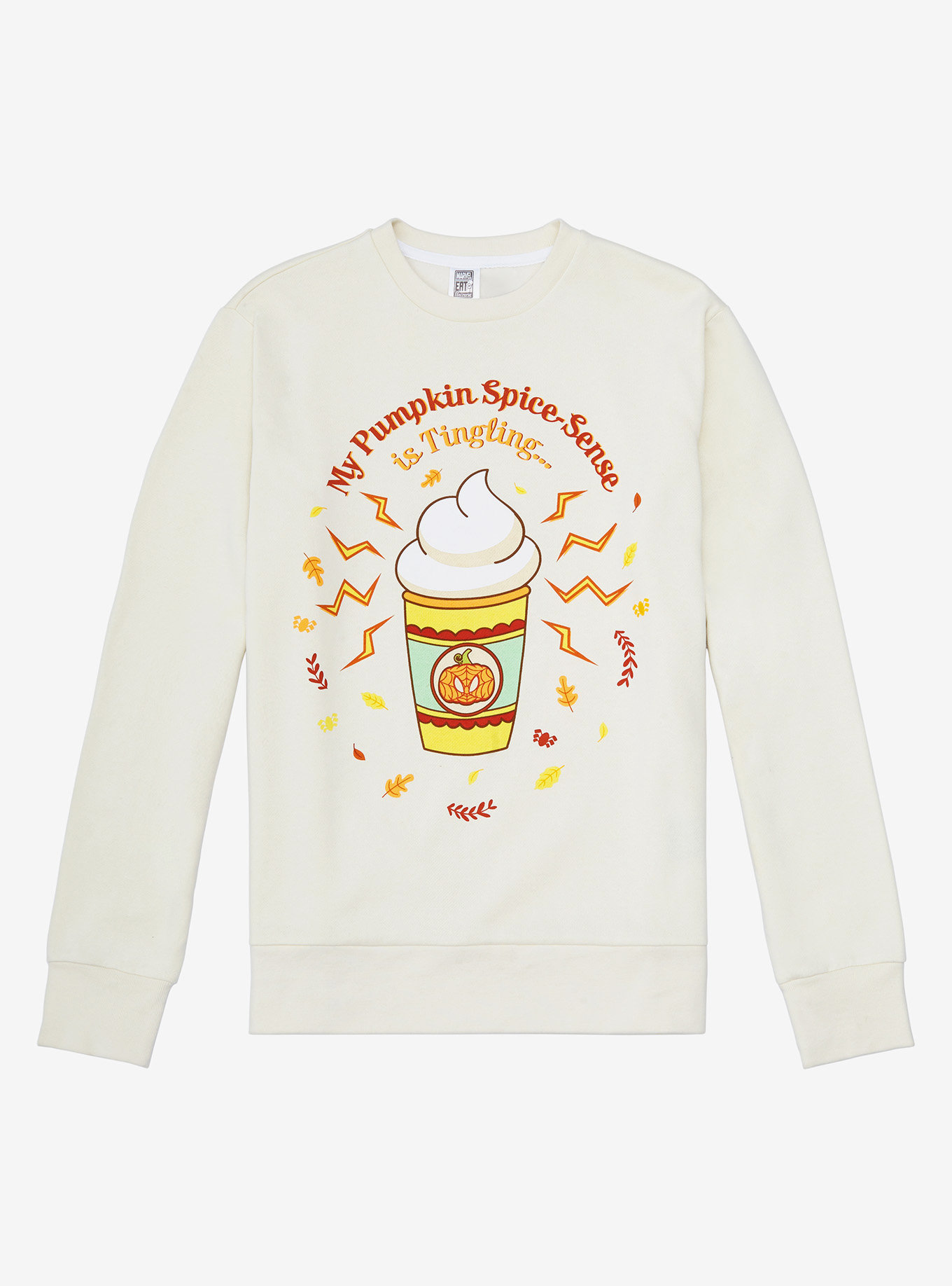 Marvel Spider-Man Pumpkin Spice-Sense Crewneck a BoxLunch Exclusive