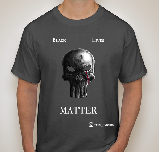 Wess Hancock for BLM - Skulls for Justice