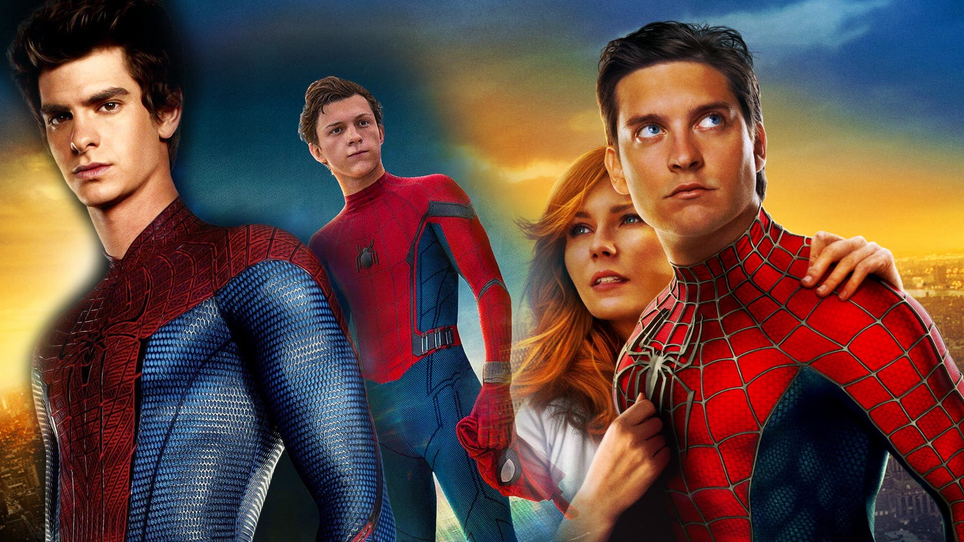 Spider-Man-3-Andrew Garfield, Tobey Maguire, and Tom Holland