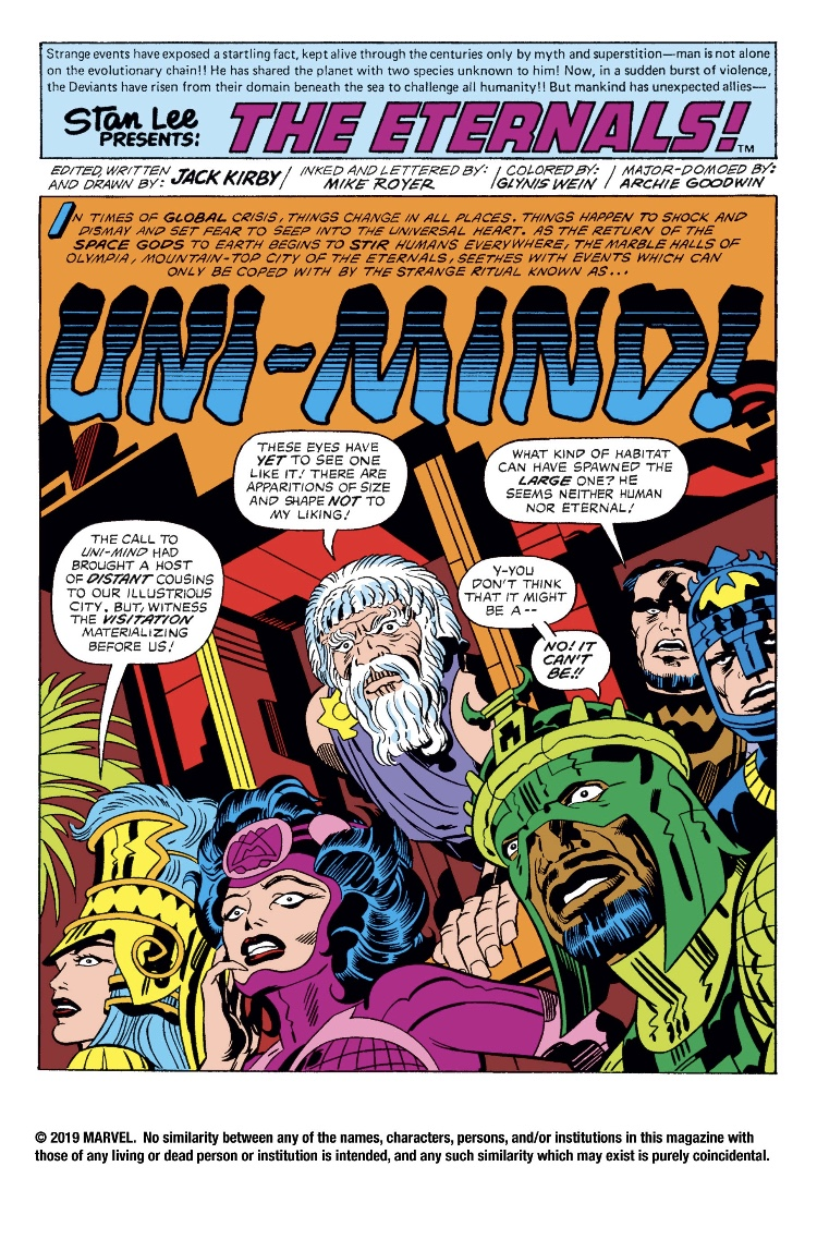 The Eternals #12 by Jack Kirby