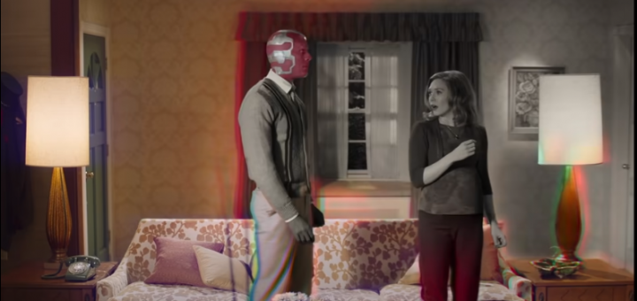 wandavision trailer shows black and white to color transformation