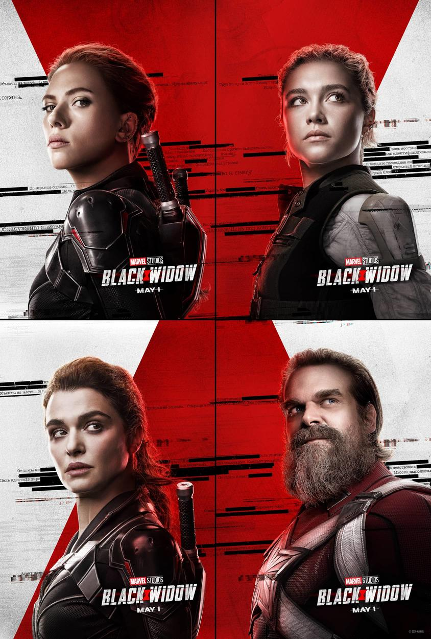 Character Posters for Black Widow Movie