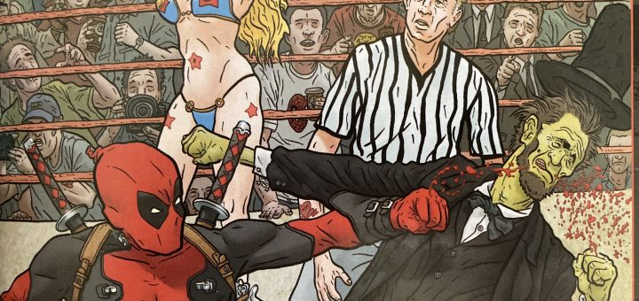 Deadpool punching Zombie Lincoln