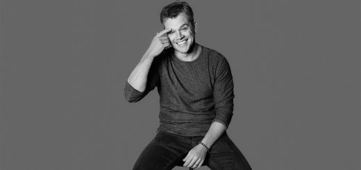 Matt Damon in Black and White
