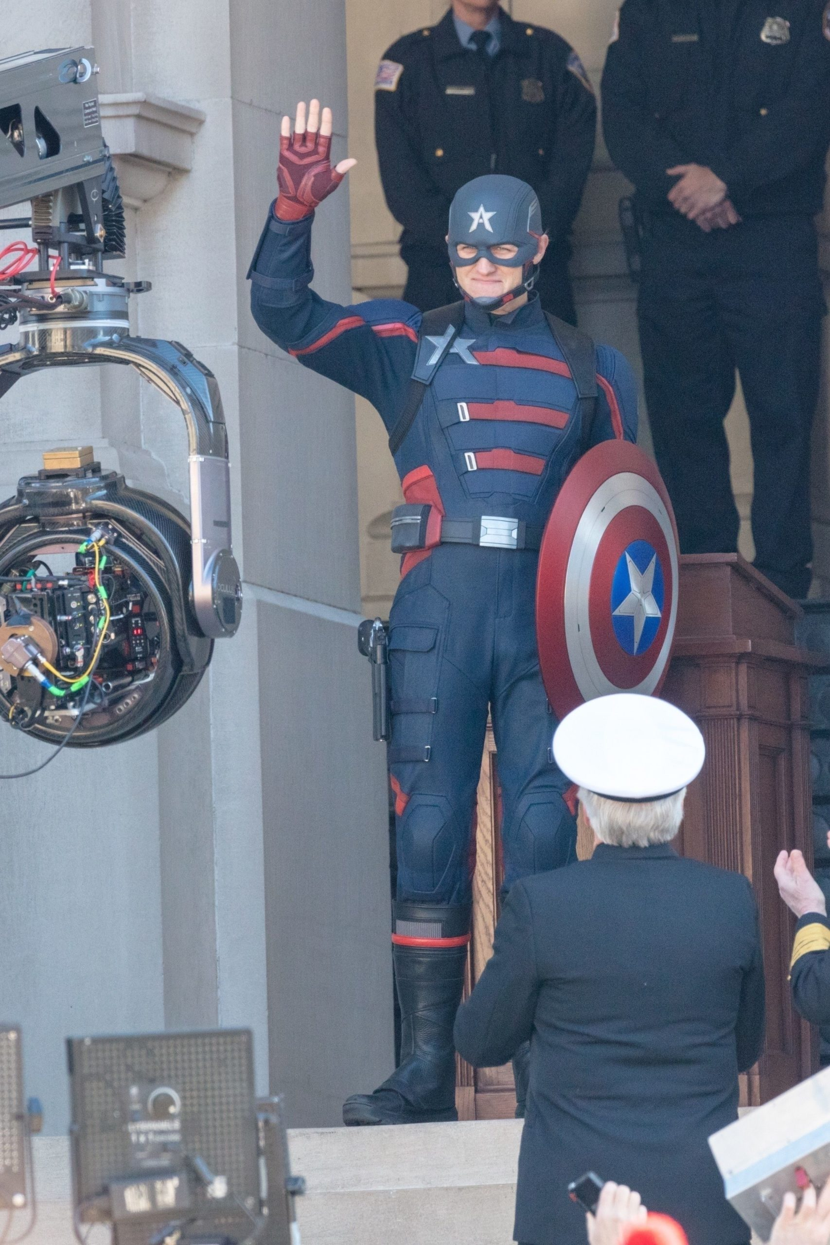 US Agent on-set for The Falcon and the Winter Soldier