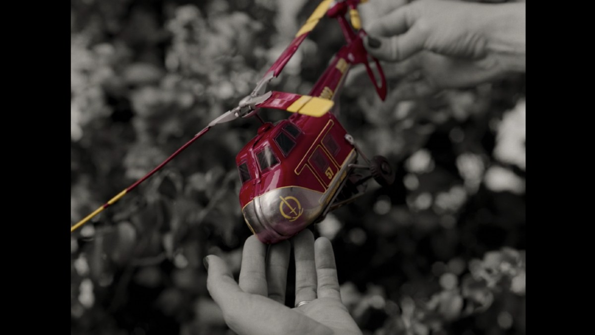 Red and Yellow Helicopter in WandaVision Episode 2