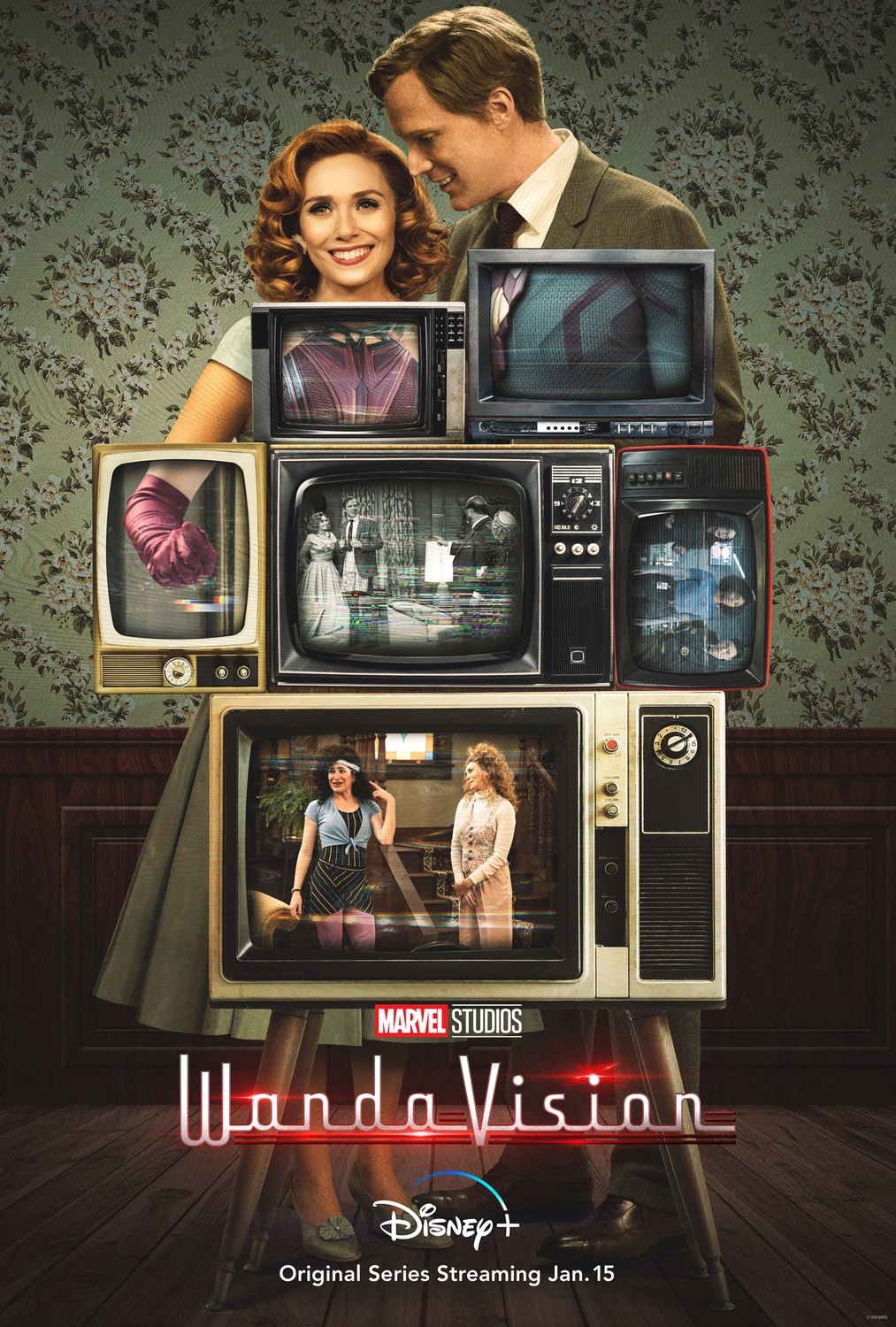 WandaVision Poster featuring Olsen and Bettany