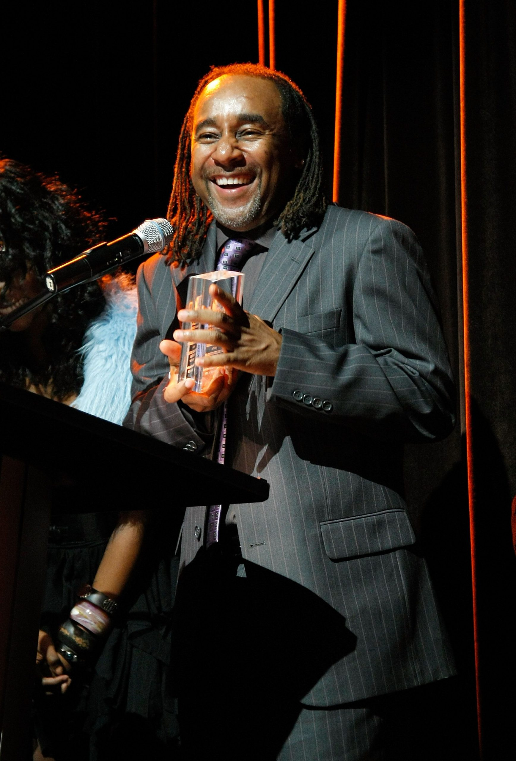 Author Eric Jerome Dickey Accepting an Award