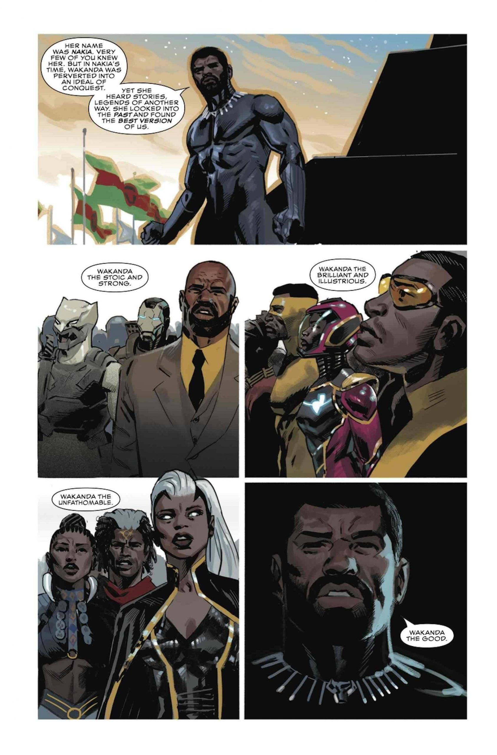 BLACK PANTHER #23 preview pages by Daniel Acuña and Ryan Bodenheim