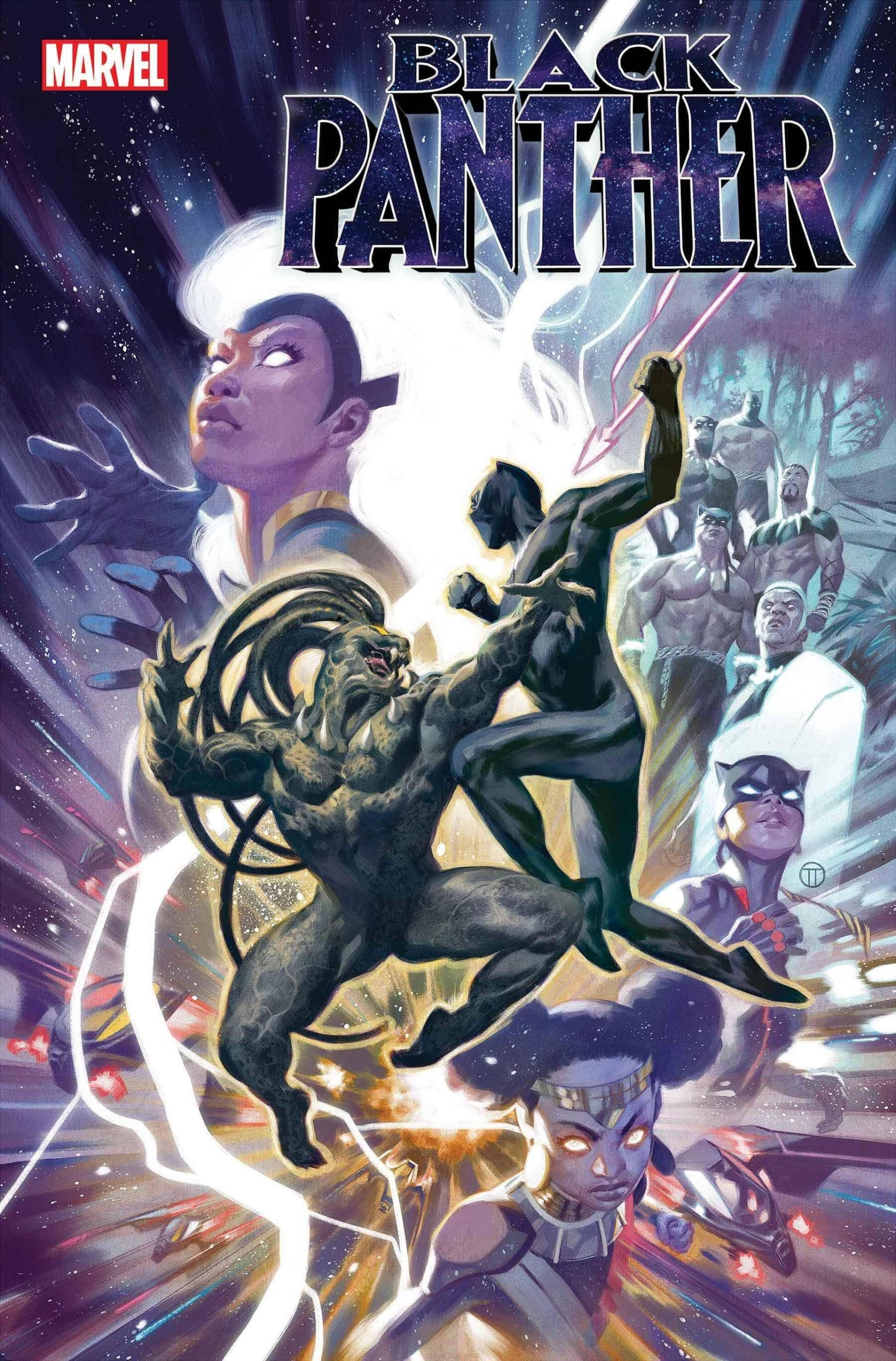 BLACK PANTHER #23 variant cover by Julian Totino Tedesco