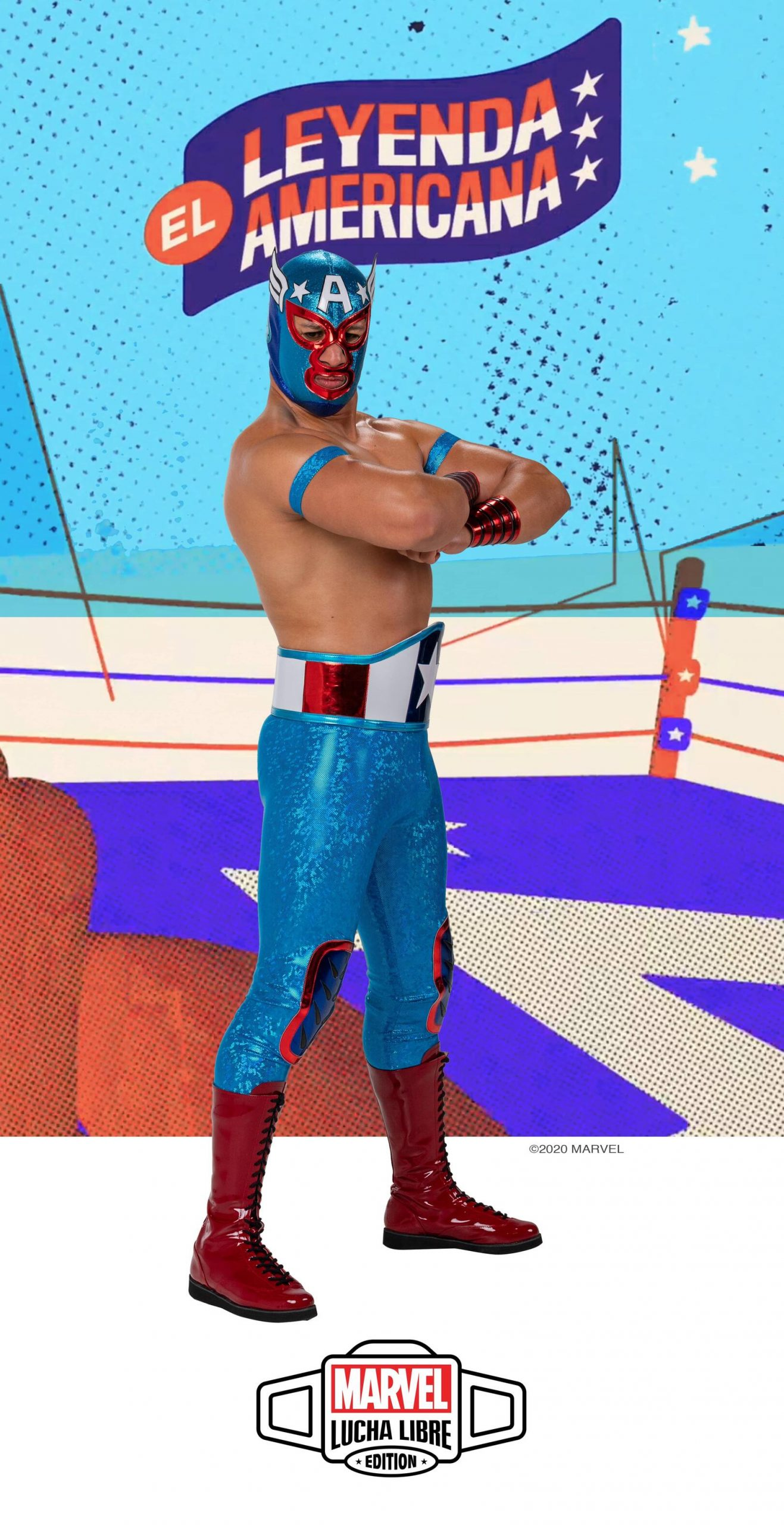El Leyenda Americana in his wrestling costume