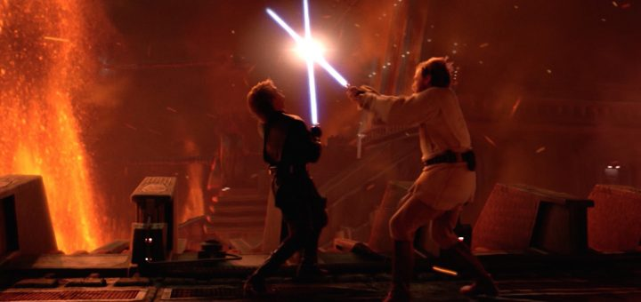 Mustafar fight with Obi-Wan and Darth Vader