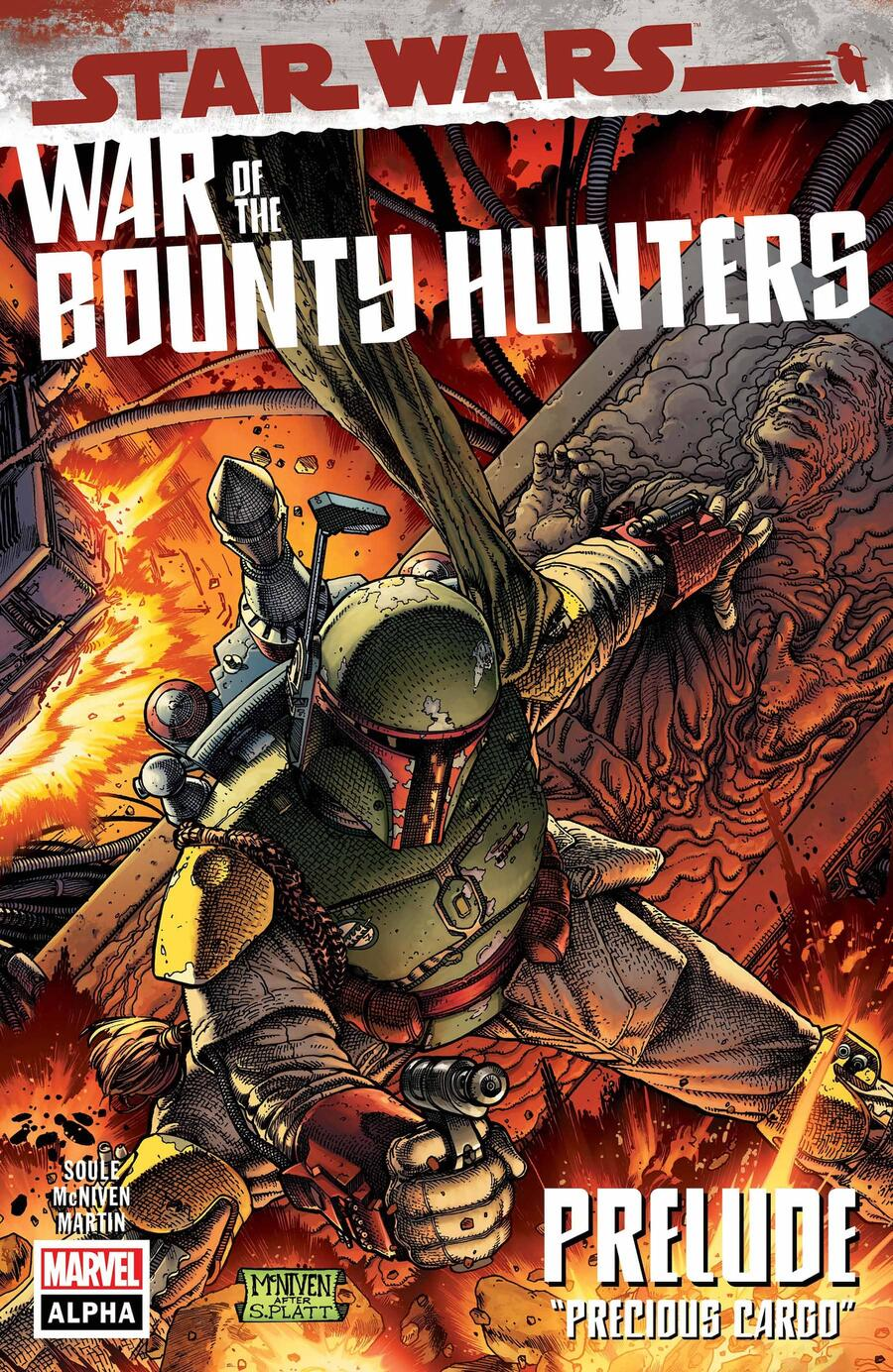 STAR WARS: WAR OF THE BOUNTY HUNTERS ALPHA #1 cover by Steve McNiven