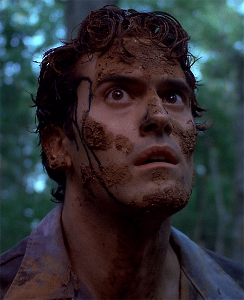 Bruce Campbell as Ash Williams in Evil Dead
