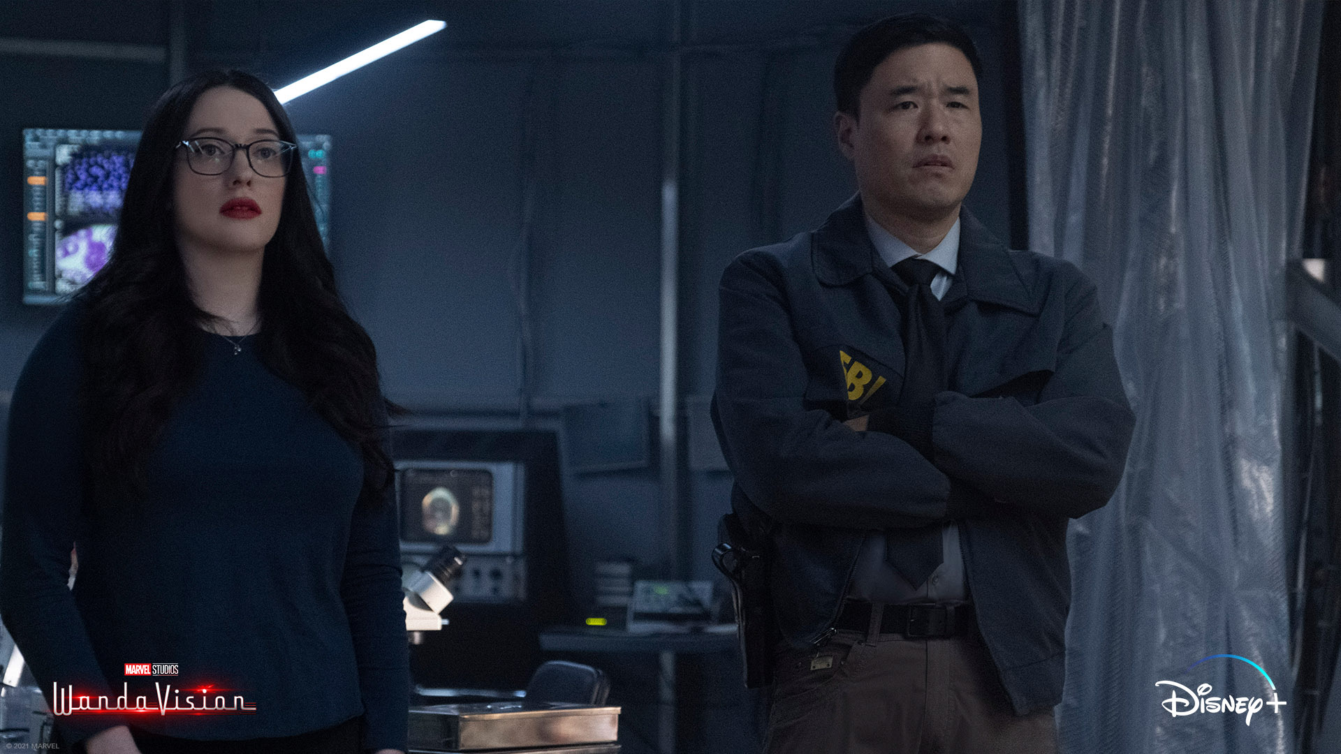 Doctor Darcy Lewis and Agent Woo in Episode 4 of WandaVision