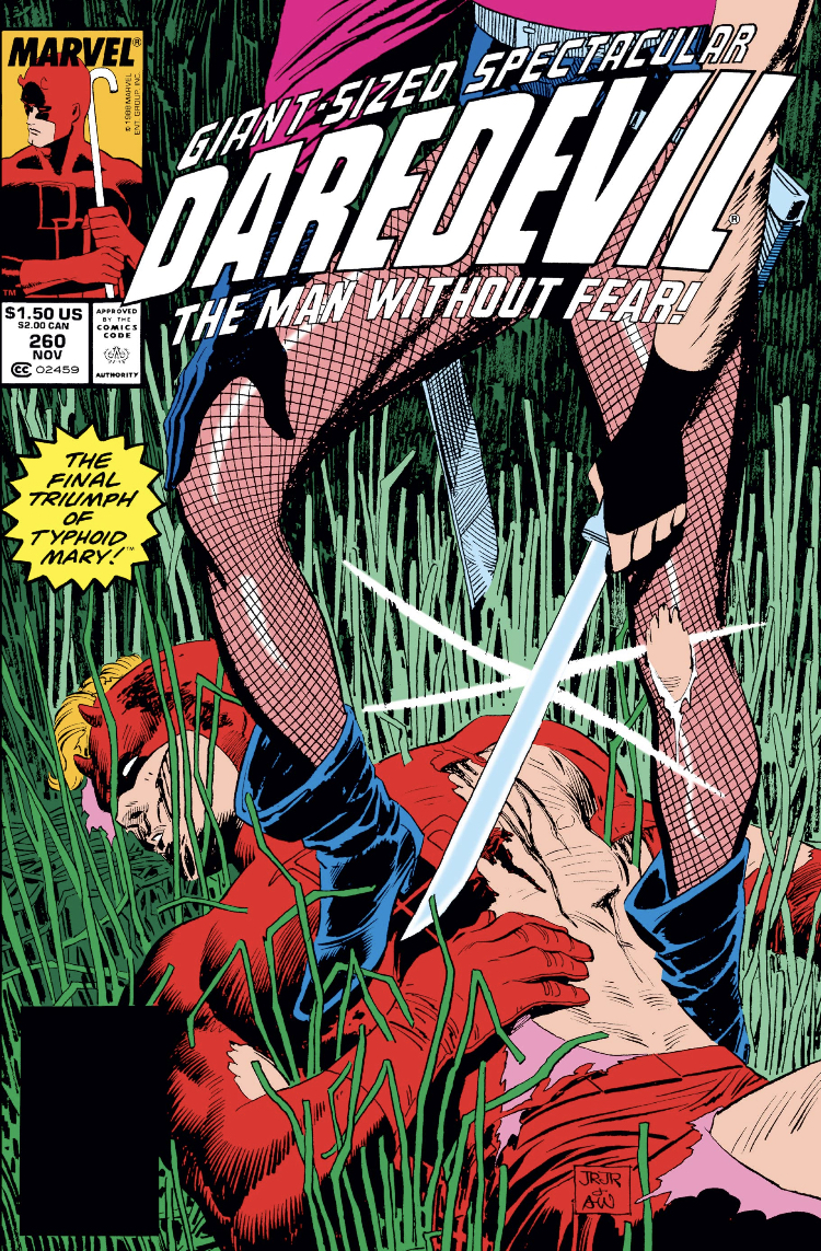 Daredevil cover with Typhoid Mary