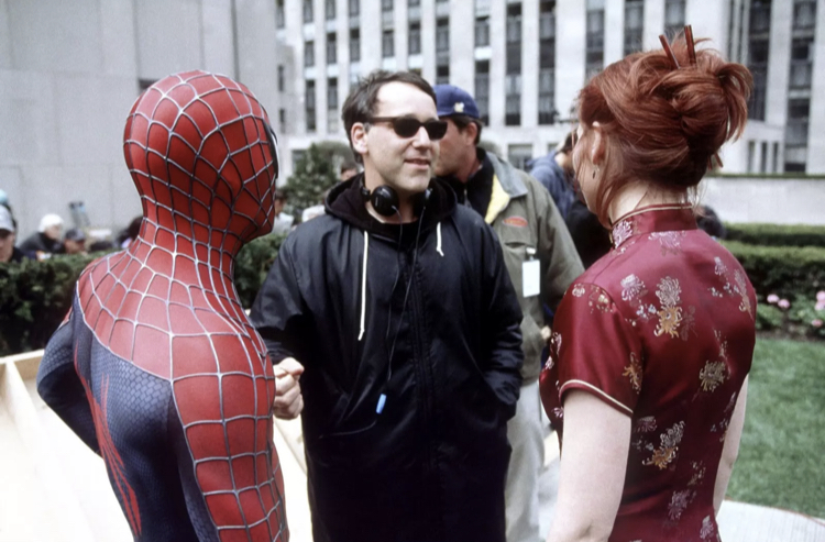 Raimi directing Spider-Man