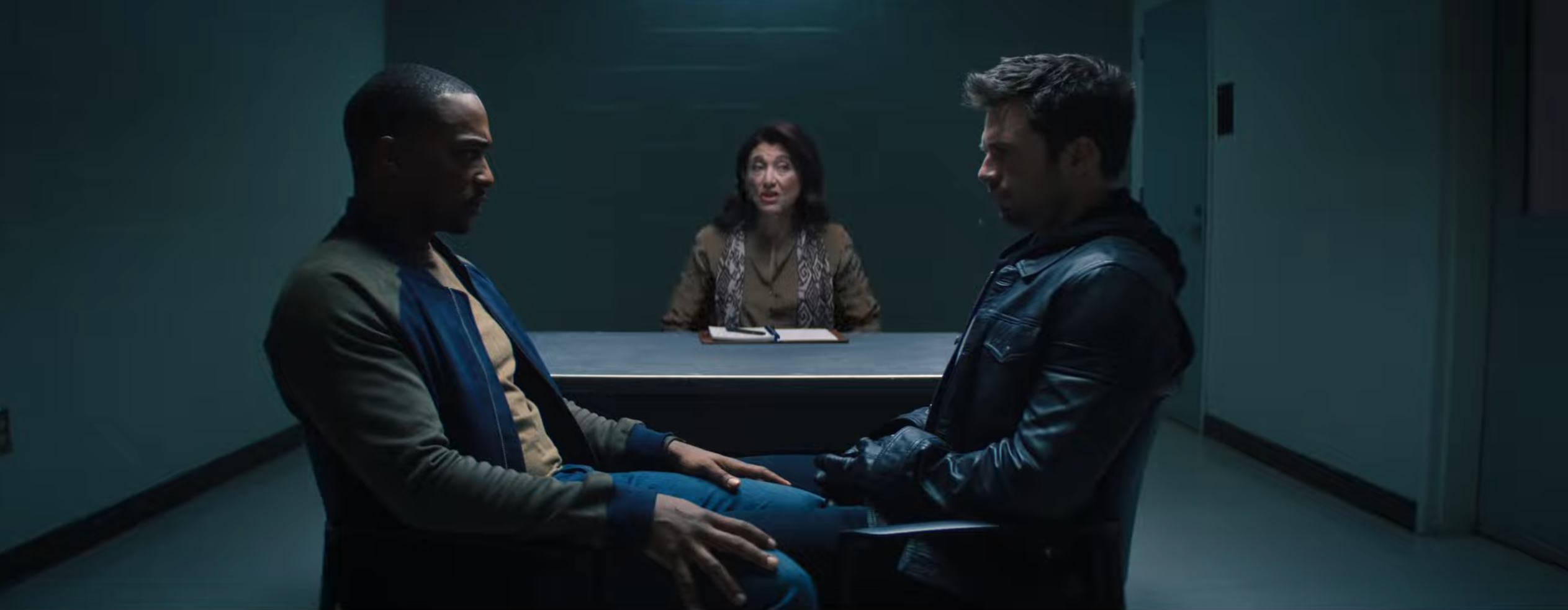 Sam and Bucky do couple's therapy in The Falcon and the Winter Soldier