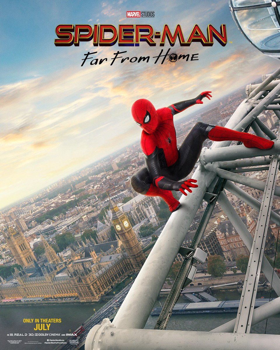 Spider-Man Far From Home with London Eye