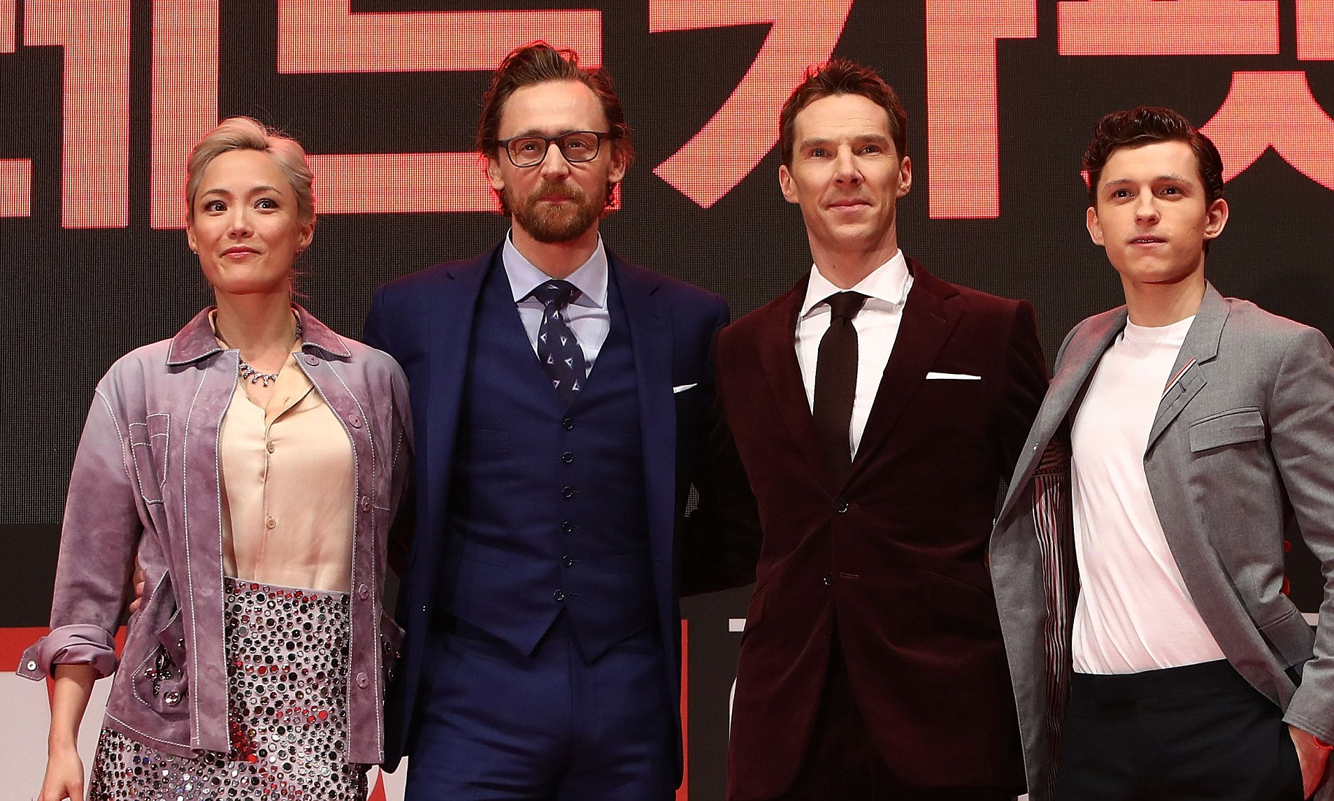 'Avengers Infinity War' Premiere In Seoul with Holland, Cumberbatch, Hiddleston, and Klementieff