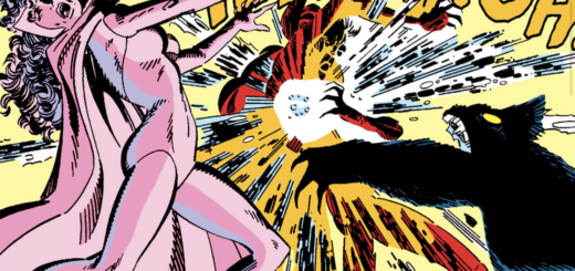 West Coast Avengers Scarlet Witch Fighting Mephisto