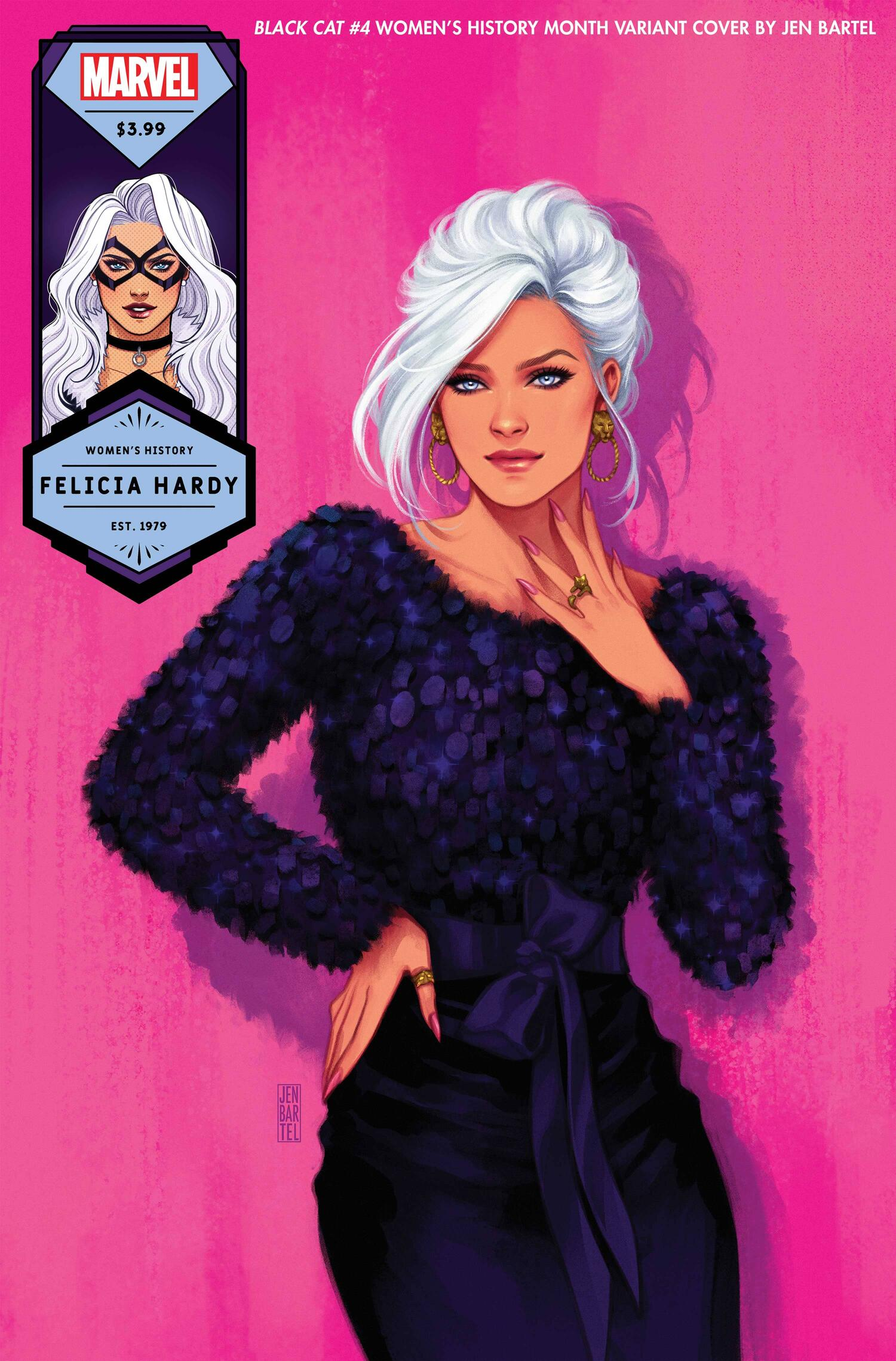 BLACK CAT #4 WOMEN'S HISTORY MONTH VARIANT COVER by JEN BARTEL