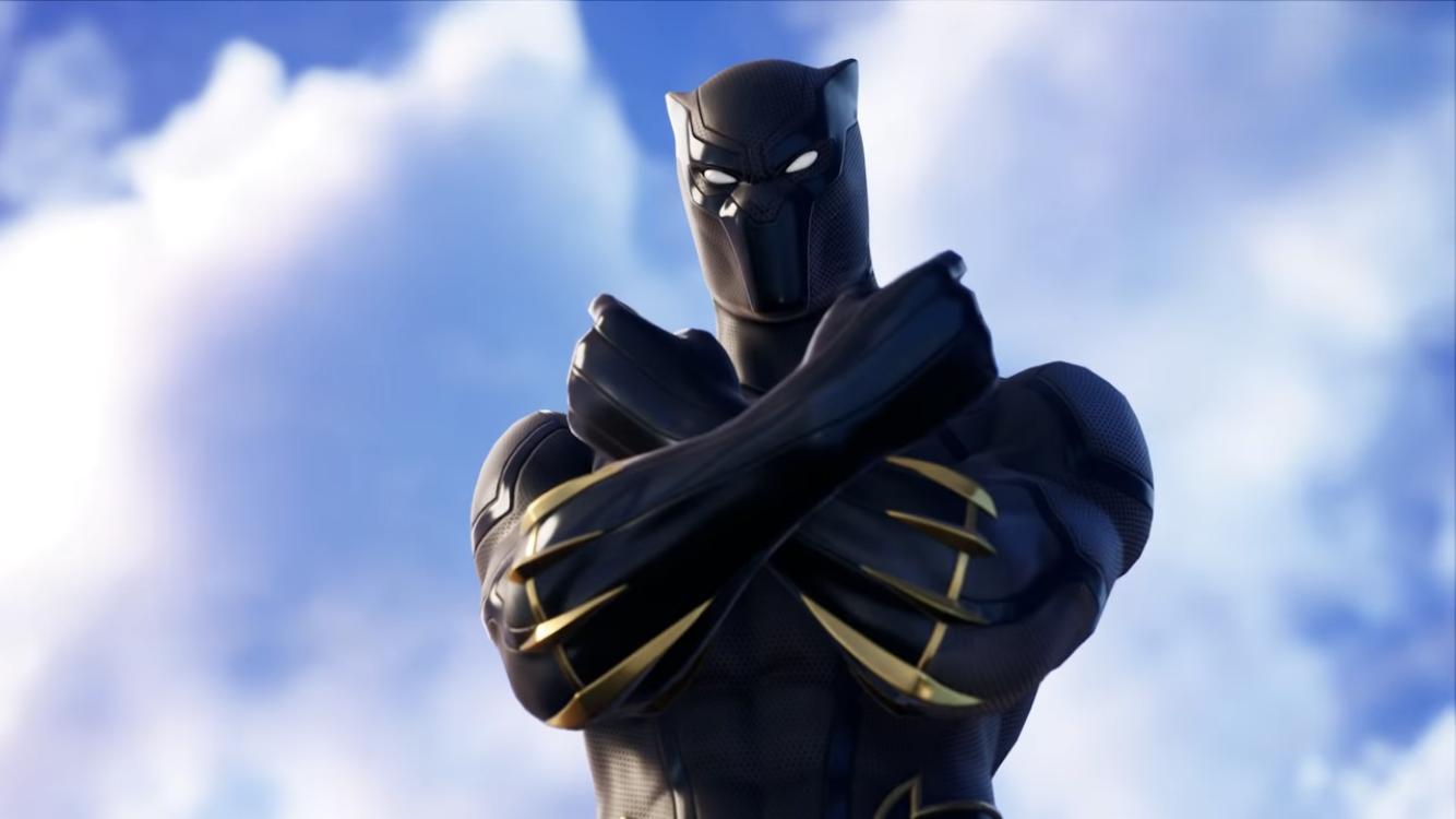 Black Panther Wakanda Salute Fortnite