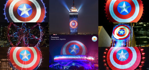 Captain America Shields Around the World