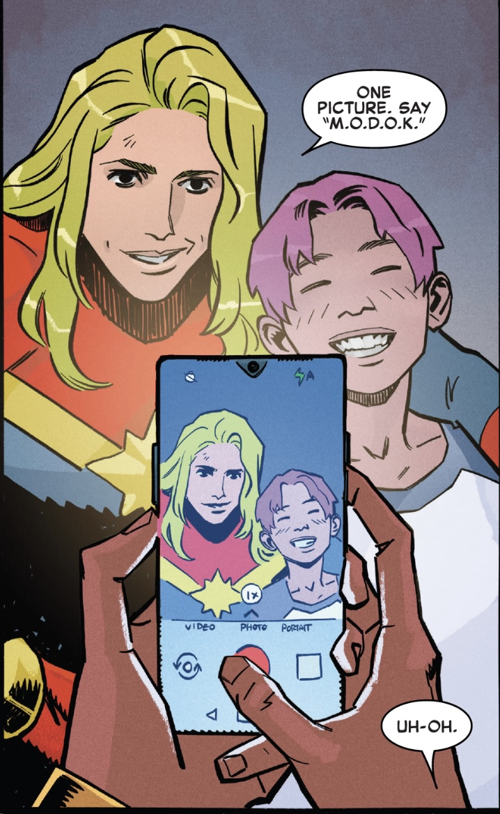 Captain Marvel and Jenni in Snapshots #1