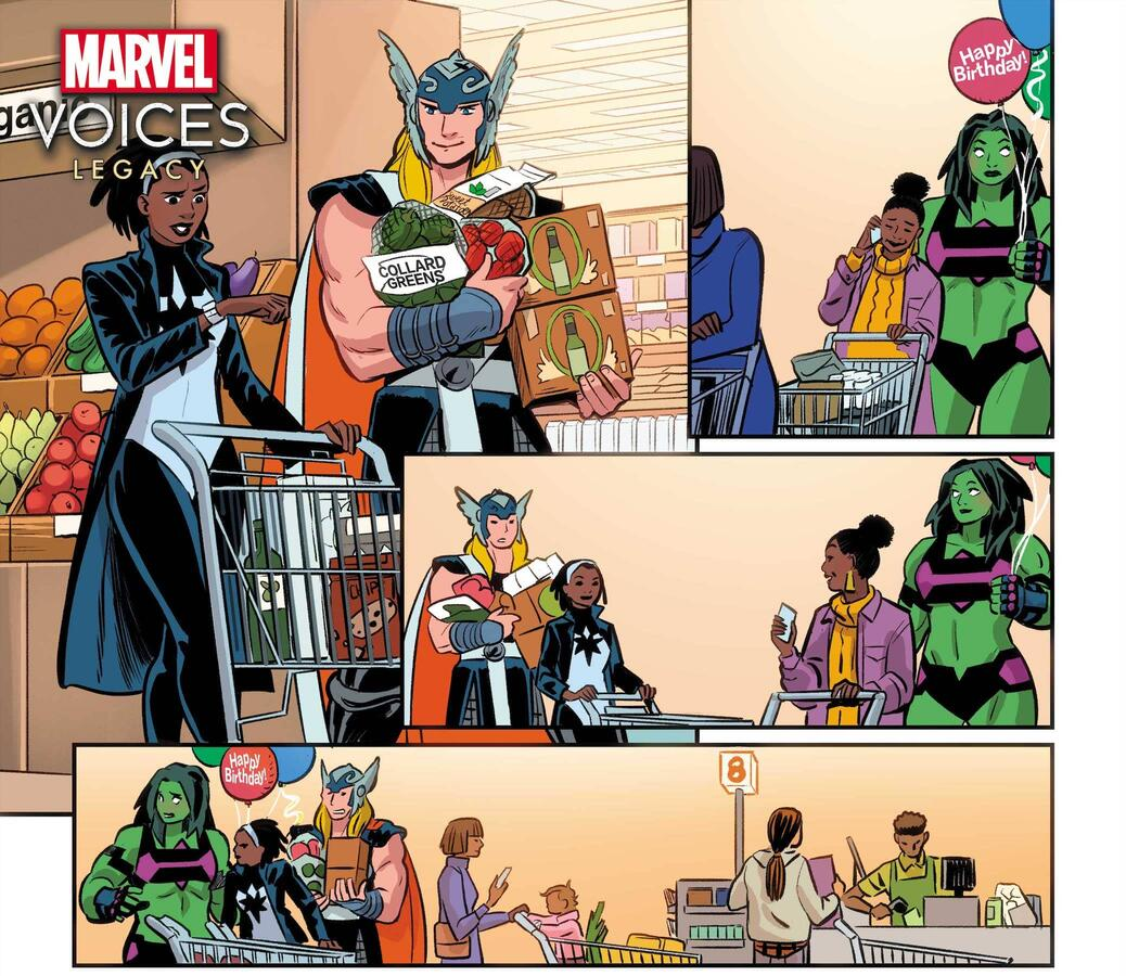 MARVEL'S VOICES: LEGACY #1 preview art by Natacha Bustos, colors by Rachelle Rosenberg