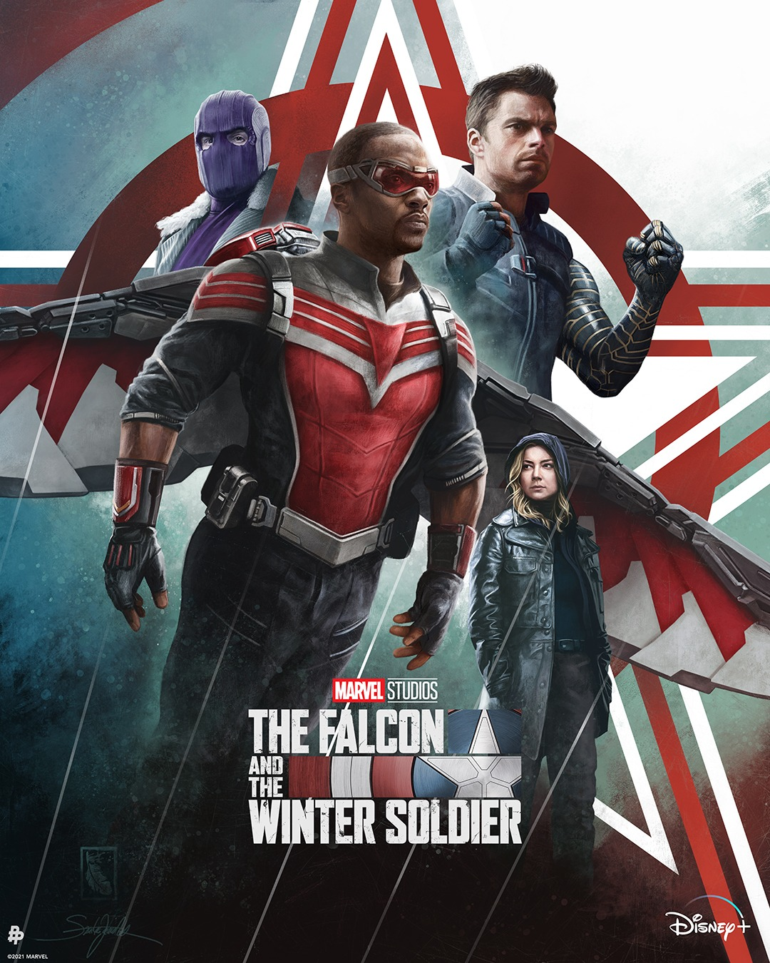 The Falcon and the Winter Soldier SzarkaArt Poster