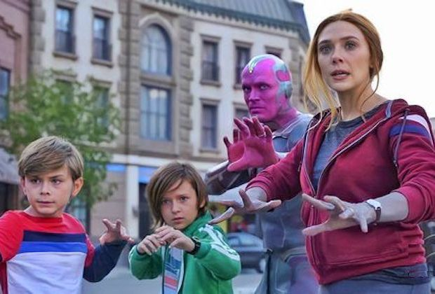 Billy, Tommy, Vision, and Wanda