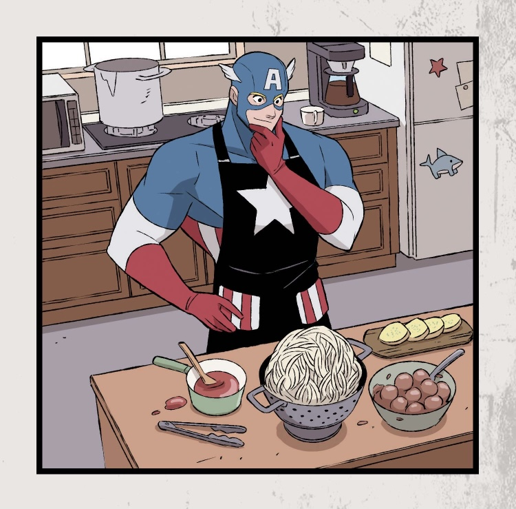 Captain America Heroes At Home