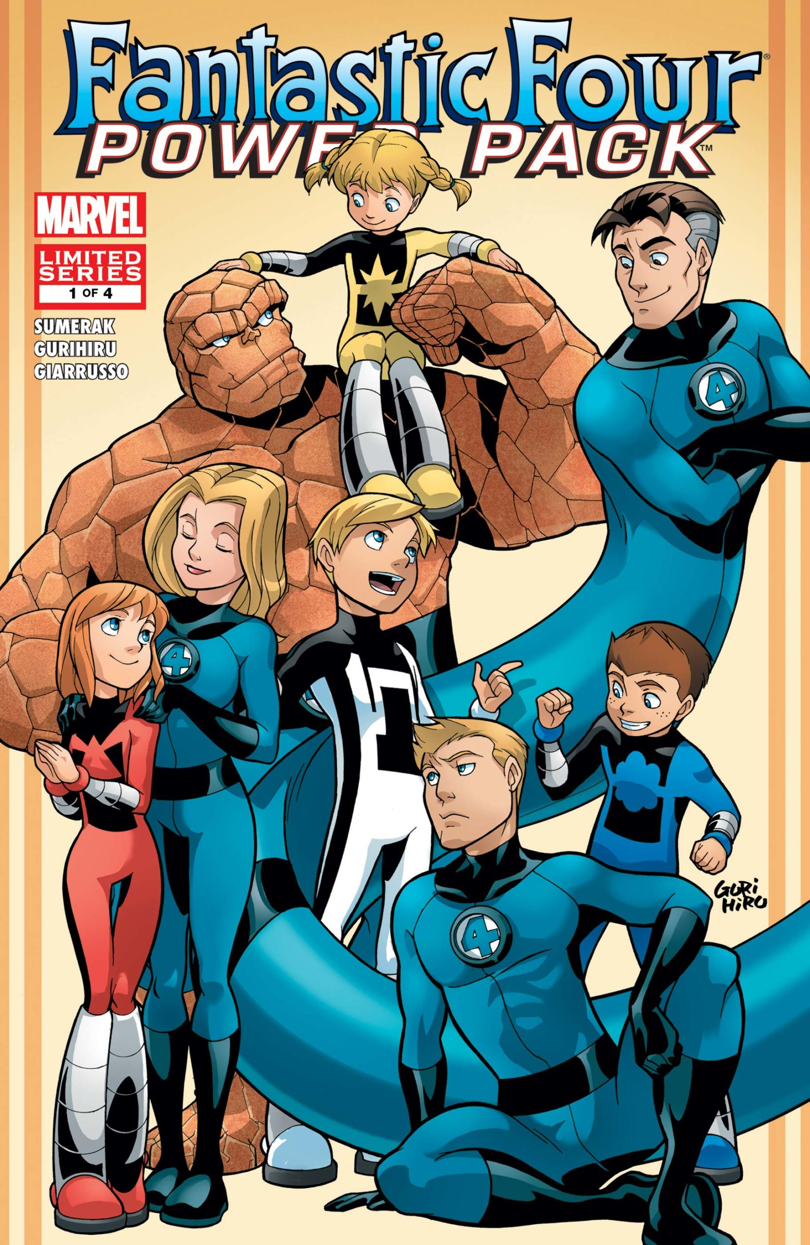 Fantastic Four and Power Pack #1 Get Caught Reading